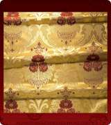 Metallic Brocade Fabric - 370-GS-RD-GM