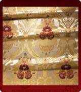 Metallic Brocade Fabric - 370-WS-RD-GM