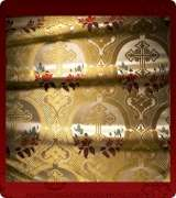 Metallic Brocade Fabric - 380-WS-NO-GM