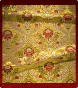 Metallic Brocade Fabric - 390-GS-RD-GM