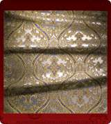 Metallic Brocade Fabric - 455-WS-DB-GM