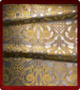 Metallic Brocade Fabric - 460-WS-DB-GM