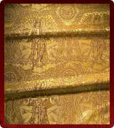 Metallic Brocade Fabric - 525-GS-BR-GM