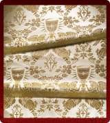 Metallic Brocade Fabric - 615-WS-WS-GM