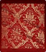 Metallic Brocade Fabric - 330-RD-BR-GM
