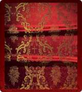 Metallic Brocade Fabric - 345-RD-BR-GM