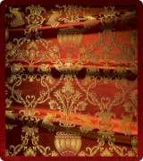 Metallic Brocade Fabric - 365-RD-BR-GM