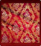 Metallic Brocade Fabric - 375-RD-BR-GM