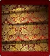 Metallic Brocade Fabric - 385-RD-BR-GM