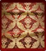 Metallic Brocade Fabric - 390-RD-RD-GM