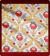 Metallic Brocade Fabric - 390-WS-RD-GM