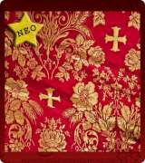 Metallic Brocade Fabric - 405-RD-GM-GM