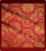 Metallic Brocade Fabric - 445-RD-BR-GM