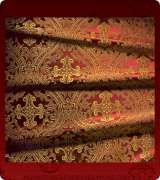Metallic Brocade Fabric - 455-RD-BR-GM