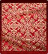 Metallic Brocade Fabric - 480-RD-BR-GM