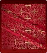 Metallic Brocade Fabric - 510-RD-BR-GM