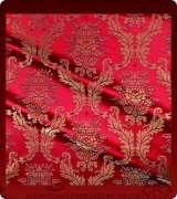 Metallic Brocade Fabric - 550-RD-BR-GM