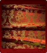 Metallic Brocade Fabric - 585-RD-BR-GM