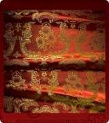 Metallic Brocade Fabric - 585-RD-BR-GM