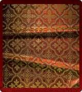 Metallic Brocade Fabric - 590-RD-BR-GM