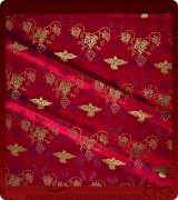 Metallic Brocade Fabric - 605-RD-BR-GM
