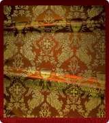 Metallic Brocade Fabric - 615-RD-BR-GM