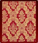 Metallic Brocade Fabric - 630-RD-GM-GM