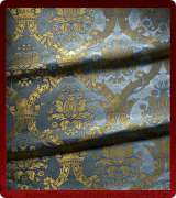 Metallic Brocade Fabric - 330-LB-DB-GM
