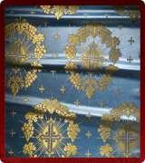Metallic Brocade Fabric - 335-LB-DB-GM