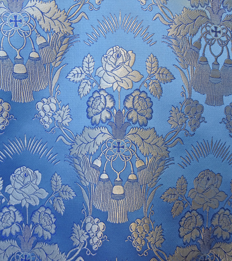 Metallic Brocade Fabric - 350-LB-DB-SM