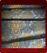 Metallic Brocade Fabric - 355-LB-DB-GM