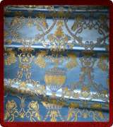 Metallic Brocade Fabric - 365-LB-DB-GM