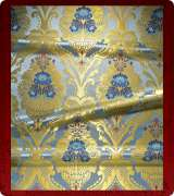 Metallic Brocade Fabric - 370-LB-DB-GM