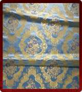 Metallic Brocade Fabric - 375-LB-DB-GM