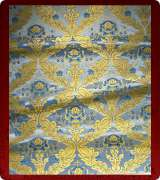 Metallic Brocade Fabric - 390-LB-DB-GM
