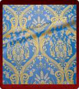 Metallic Brocade Fabric - 420-LB-DB-GM