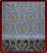 Metallic Brocade Fabric - 425-LB-DB-SM