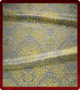 Metallic Brocade Fabric - 445-LB-DB-GM