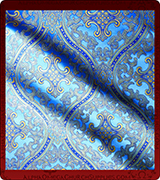 Metallic Brocade Fabric - 455-LB-DB-SM