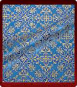 Metallic Brocade Fabric - 480-LB-DB-GM