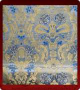 Metallic Brocade Fabric - 490-LB-DB-GM
