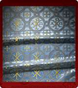 Metallic Brocade Fabric - 505-LB-DB-GM
