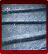 Metallic Brocade Fabric - 505-LB-DB-SM