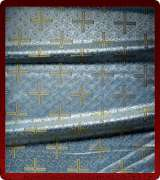 Metallic Brocade Fabric - 510-LB-DB-GM