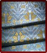 Metallic Brocade Fabric - 520-LB-DB-GM