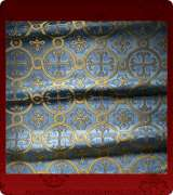 Metallic Brocade Fabric - 530-LB-DB-GM