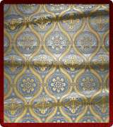 Metallic Brocade Fabric - 535-LB-DB-GM