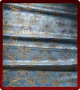 Metallic Brocade Fabric - 545-LB-DB-GM