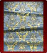 Metallic Brocade Fabric - 550-LB-DB-GM