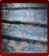 Metallic Brocade Fabric - 560-LB-DB-SM